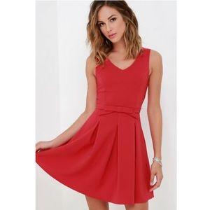 Lulu's Someone to Love Red Dress L